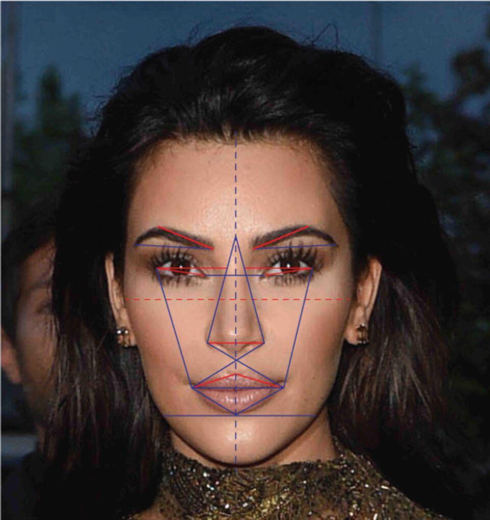 beautiful human face an algorithm based on the Phi Golden Ratio