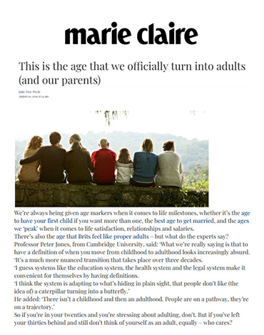 Marie Claire article